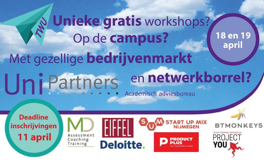 Tweedaags evenement met allerlei unieke gratis workshops voor de studenten van de Radboud