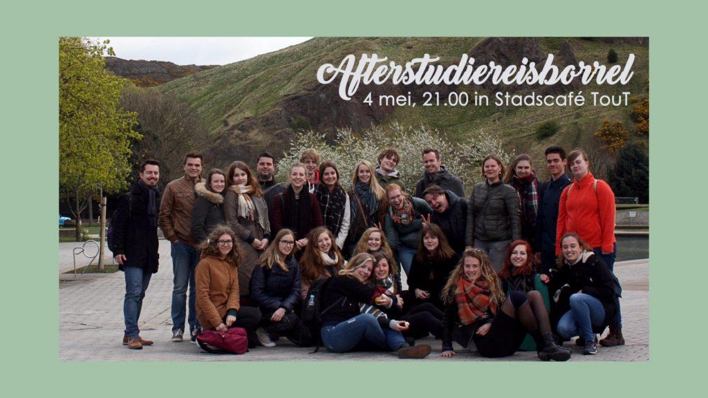 After-studiereisborrel (ook voor de niet reizigers)