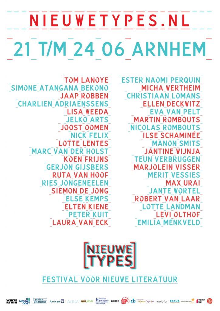 Literaire festival Nieuwe Types